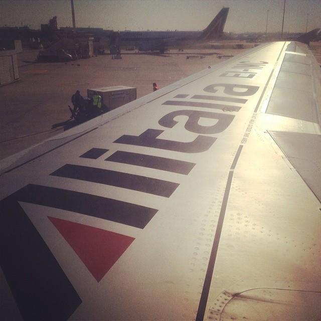 From my window  #fly #airport #airplane #airbus #wing #alitalia #fiumicino #roma #rome #italy #italia #hipstamatic #picoftheday #instagood #photooftheday #instamood #iphonesia #instaitalia  #igersitalia #poldo_