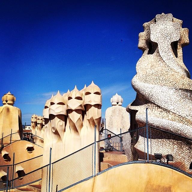 Gaudì, again Gaudì  #gaudì #spain  #barcelona #instagood #instamood #iphonesia #hipstamatic #picoftheday #photooftheday #poldo_