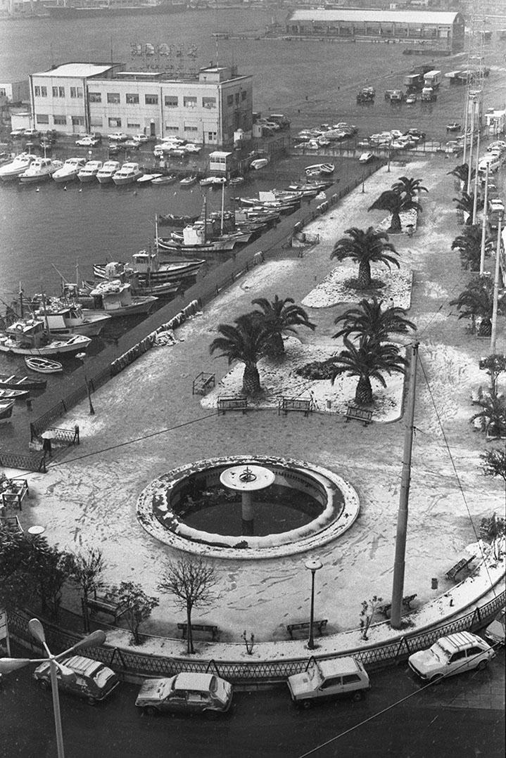 1985 Neve a Cagliari - Piazza Defenu