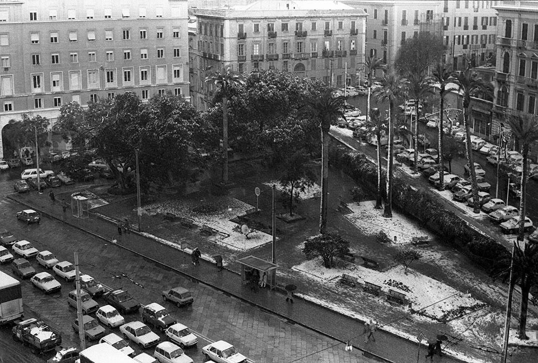 1985 Neve a Cagliari - Via Roma
