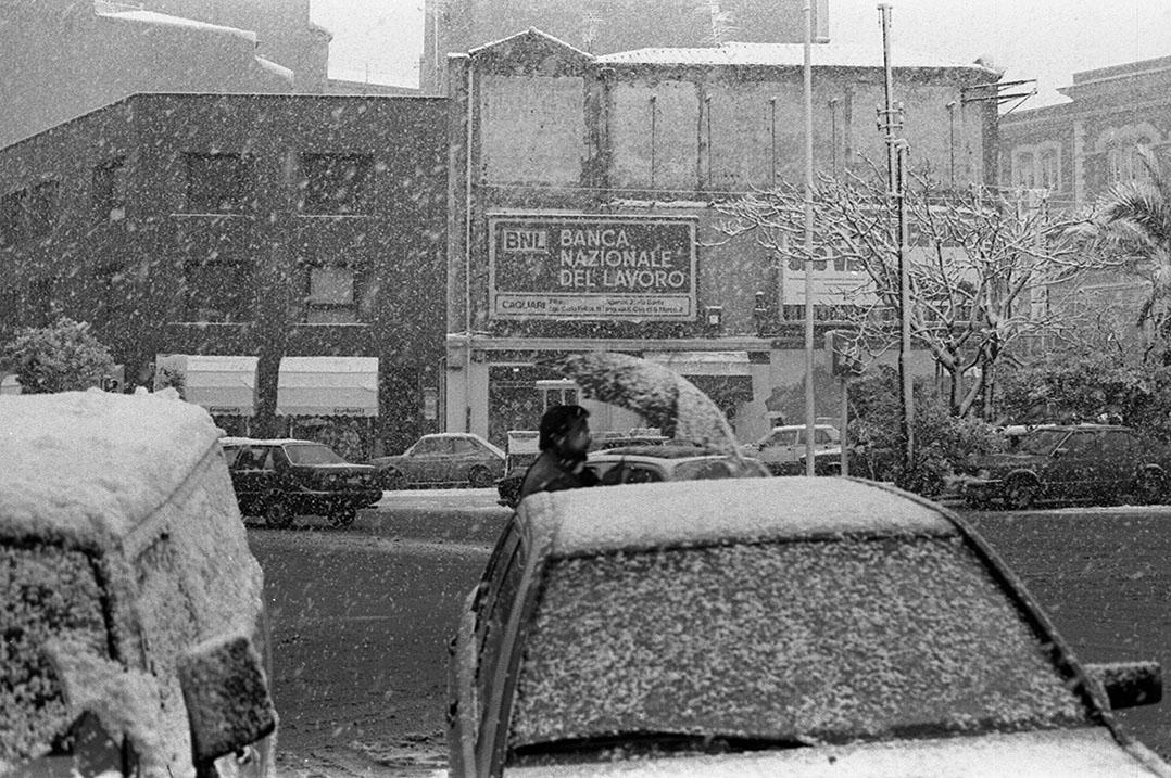 1985 Neve a Cagliari - Piazza Garibaldi