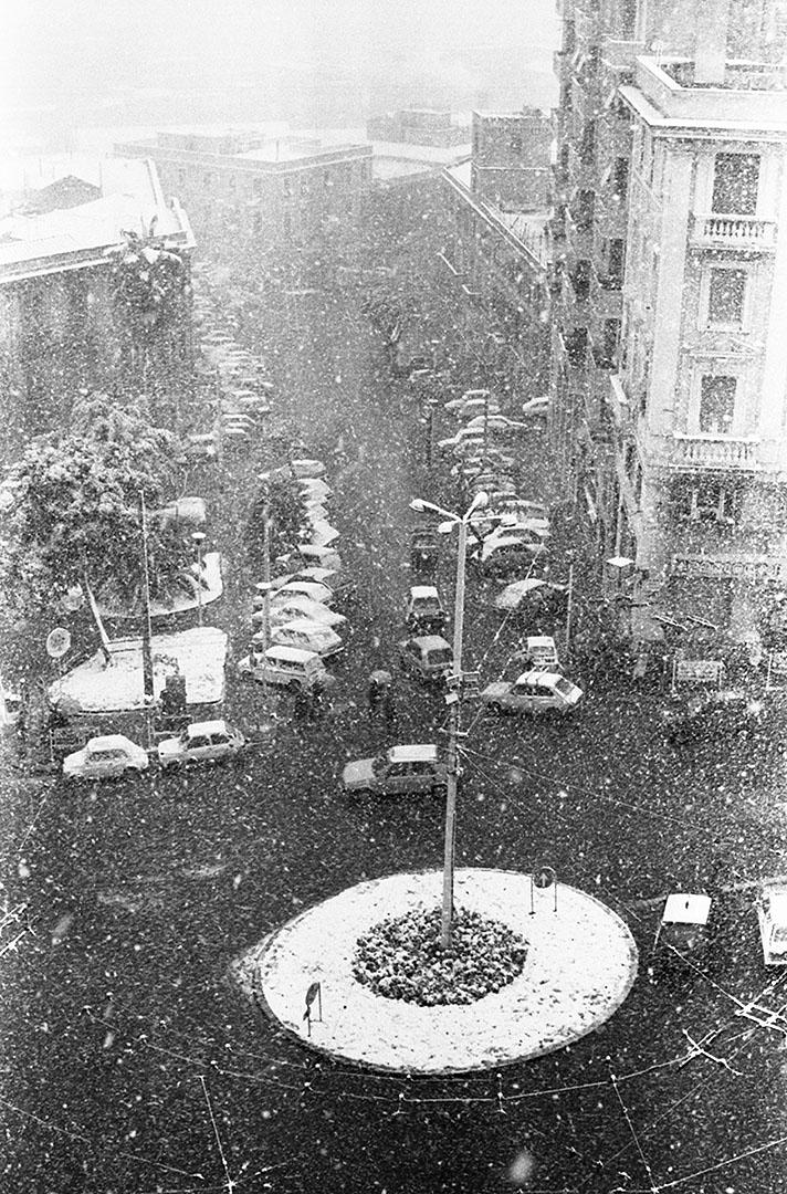1985 Neve a Cagliari - Piazza Martiri