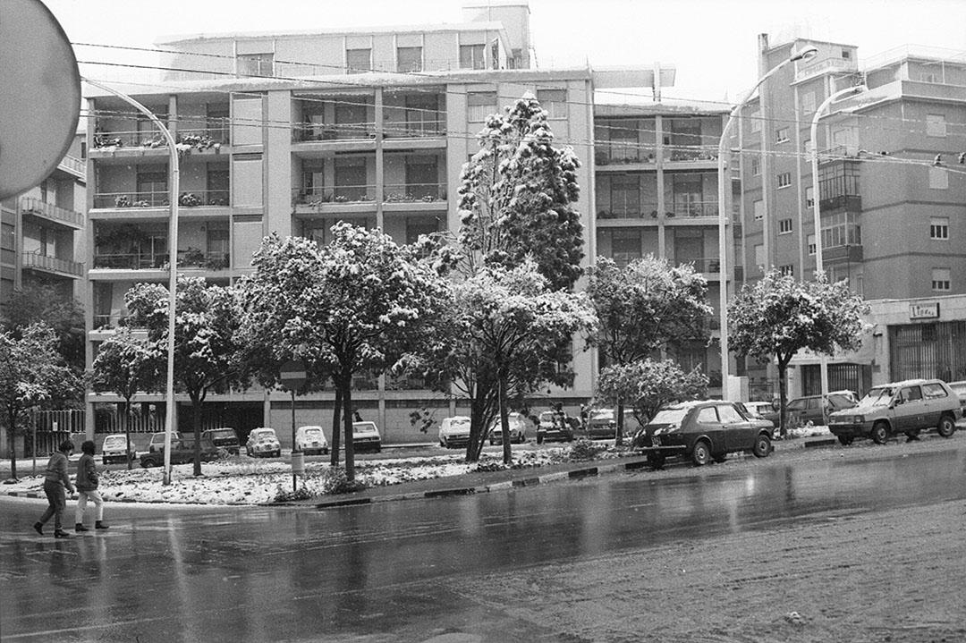 1985 Neve a Cagliari - Via Scano