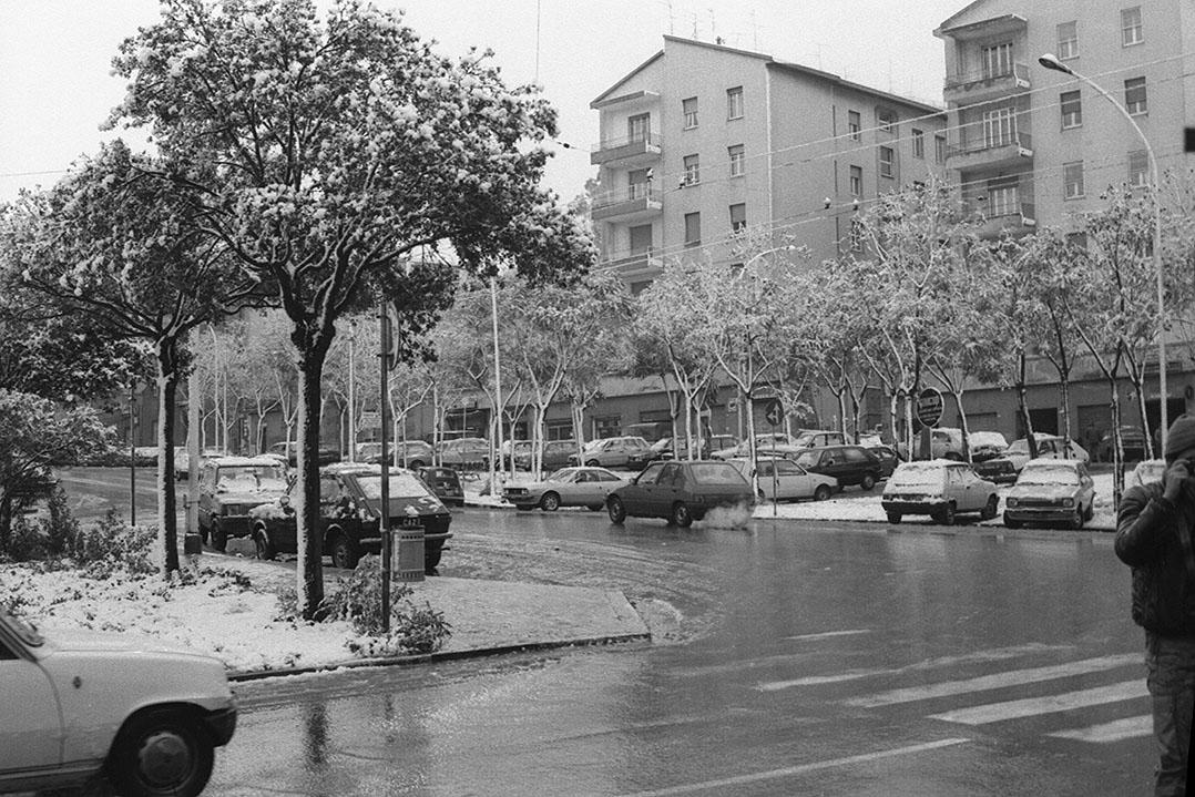 1985 Neve a Cagliari - Via della Pineta